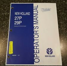 New Holland 27P 29P Operator's Manual 86634024 10/01