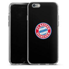Apple iPhone 6 Silikon Hülle Case - FC Bayern München Logo auf Schwarz