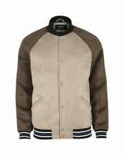 River Island Faux Suede Varsity Jacket, Beige (Stone), Small, Brand New, RRP £70