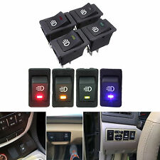 4-Pins LED On/Off Indicator Rocker Toggle Switch Driving Fog Lamp/Work Light lt