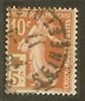 "FRANCE STAMP TIMBRE N° 147 "" CROIX ROUGE SEMEUSE +10c S.5c "" OBLITERE TB"