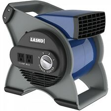 Pivoting Floor Fan Blower Head 120v Outlets 3 Speeds Utility Portable Air Cool