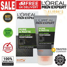 L'Oreal Men Expert Pure & Matte Anti-Shine Gel Moisturiser Cure Oily Skin 50ml