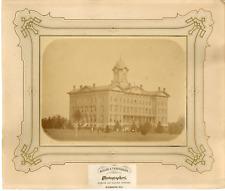 Miller & Tankersley. États-Unis, Illinois, Normal University  Vintage albumen pr