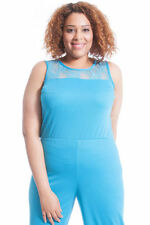Machine Washable Solid Plus Size Jumpsuits, Rompers & Playsuits for Women