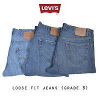 LEVIS LOOSE STRAIGHT LEG JEANS DENIM GRADE B W30 W32 W34 W36 W38 W40