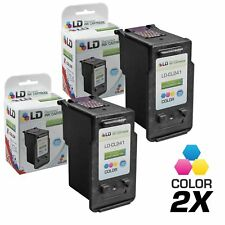 LD© Canon Reman CL241XL 2pk Color HY Ink 5208B001RII MG2120 MG2220 MG3120