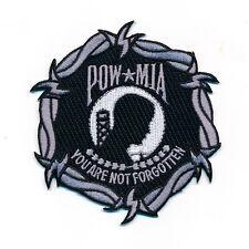 85 x 90 mm POW*MIA POW MIA POW/MIA PowMia Patch Aufnäher Aufbügler 0896