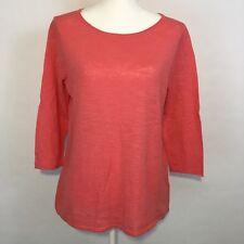 J.Jill Women's Linen Blend Top Size S 3/4 Sleeve Pullover Casual NWT