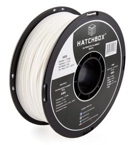 HATCHBOX ABS Pure White 3D Printer Filamnt Spool 1.75MM +/- 0.03 (1 KG)