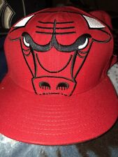 NBA Chicago Bulls Fitted Hat Size 7 1/2 New Era USED Cap