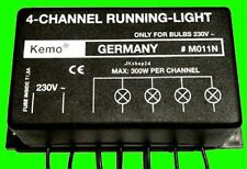 NEU 4-KANAL Lauflichtsteuerung LAUFLICHT STEUERUNG 230V/AC 25W-300W-Glühbirnen