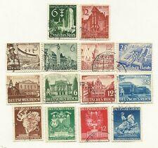 Germany 1938-41 -   Return of Danzig + 3 Leipzig/Vienna Fair   Scott no. 492-505