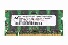 Micron NEW RAM 2GB DDR2 2RX8 PC2-5300S 667MHz 200PIN SO-DIMM For Laptop Memory