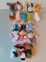 Finger Puppets Animals People Christmas imagery Play Toys Bundle