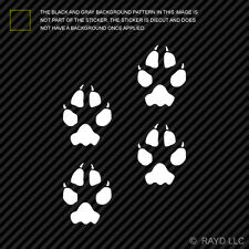 (4x) Coyote Tracks Sticker Die Cut Decal Self Adhesive hunting print marks