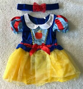 Baby Girls Disney 🍎 Snow White 🍎 2Pce Fancy Dress Up/All In One Costume 9-12m