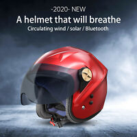 Solar bluetooth helmet