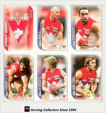 2006 Herald Sun AFL Trading Cards Base Card Team Set Sydney (12)