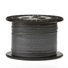 "18 AWG Gauge Stranded Hook Up Wire Gray 1000 ft 0.0403"" PTFE 600 Volts"