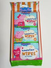 Hand Face Wipes for Children Kids - 3 packs of 10 Handy Wipes - Peppa Pig