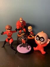 The Incredibles - Action Figure Family Superhero Toy Set - Disney Pixar Jakks