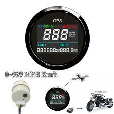 NEW 52mm Black & Silver Motorcycle LCD GPS Speedometer Digital Multi-indicator