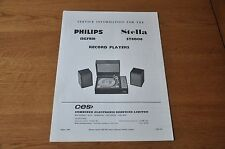 Philips 13GF818 Stella ST8008 Record Player Workshop Service Manual 13GF 819