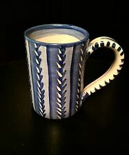RARE! SIGNED Dorchester Pottery CAH CHARLES ALLEN HILL Tall Coffee MUG FREE SHIP