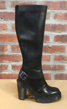 DR. MARTENS LYANNA BLACK POLISHED BUTTERO + LAUSANNE  LEATHER  BOOTS SIZE UK 6