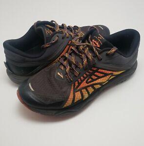 Mens Brooks Caldera 1102421D075 Black Orange Running Shoes Lace Up Size 10