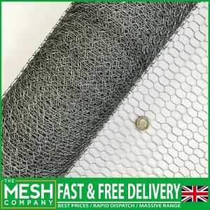 Galvanised Chicken Wire Mesh Rabbit Netting Fencing Fence Net Cages Runs Pens