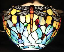 Wandlampen Wandleuchten Lampe Tiffany Tiffanystil mit Fassungen blau