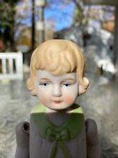 vintage German doll bisque/ceramic Antique Figurine with moveable joints Molded