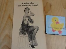 Mum Anti Perspirant Magazine Ad Print 1945 A Girl Can Be Too Trusting at Times