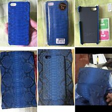 HANDMADE 100% GENUINE SNAKE PYTHON BLUE BELLY LEATHER iPHONE 5/5s COVER CASE