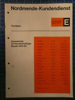 NORDMENDE Kundendienst Fernsehempfänger E Baujahr 1963/64 H10763