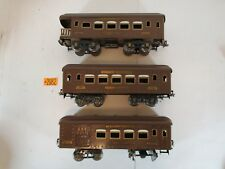 Ives standard gauge 184,185, 186  Passenger Cars  With light Very Good  Restored