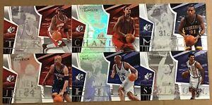 2003-04 UPPER DECK SPX BASKETBALL 6 CARD LOT #2,8,28,51,60,74