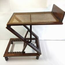 Antique EDWARDIAN CARTER's INVALID & SURGICAL FURNITURE Wickerwork READING TABLE