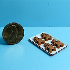 Dollhouse Miniature Christmas Gingerbread Men on Tray ~ Car1383