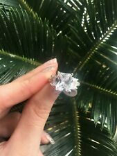 Sterling Silver, Size 6, Beautiful, New Cubic Zirconia Ring, Radiant Cut, .925