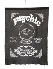 Victorian Trading Co Black & White Psychic Fortune Teller Flag Wall Hanging