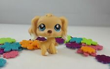 Littlest Pet Shop Light Yellow and White Accented Cocker Spaniel Dog #748