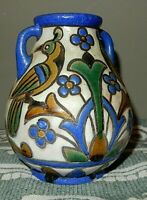 Old Aramean / Turkey Pottery VASE birds and nature motive original art paint M X