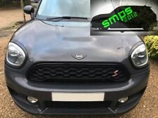 New Mini F60 Countryman Black & Black Gloss grille Cover 2017 + Cooper S or JCW