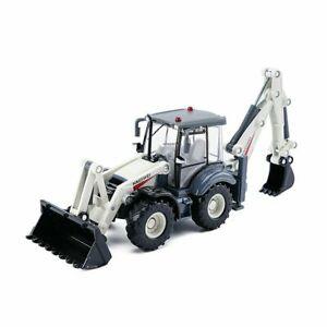 Metal Diecast 1:50 Excavator Model White Shovel Loader Forklift Vehicle Toy Gift
