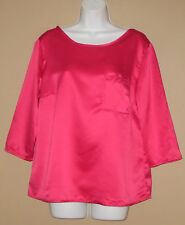 Womens Size Large 3/4 Long Sleeve Fall Fashion Pink Casual Blouse Top Shirt