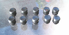 """10 - 1/2"""" Round Tubing Plastic Hole Plug End Cap .5"""" Pipe Push In Cover"""