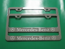 "(2) Brand New "" MERCEDES-BENZ "" Stainless Steel Chrome license plate frame (SB)"